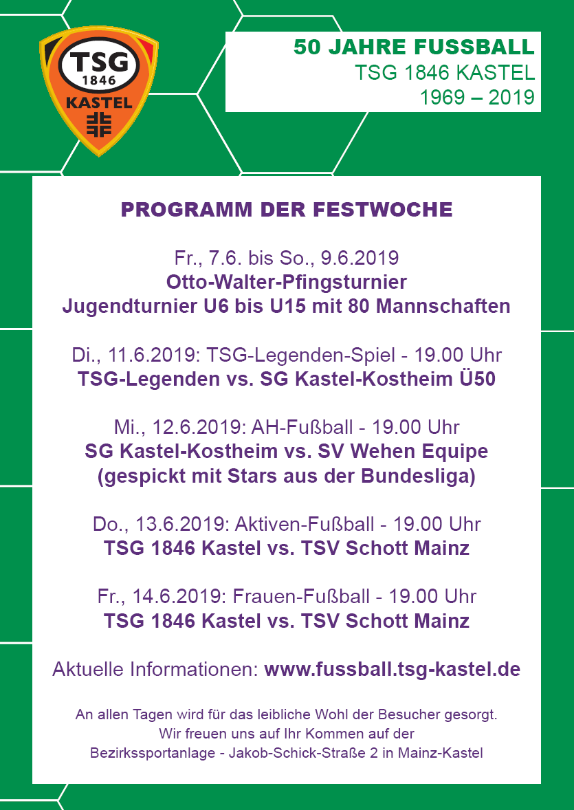 Programm Festwoche 2019