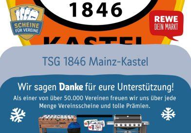 Scheine für Vereine 2664 Punkte für die TSG 1846 Mainz-Kastel