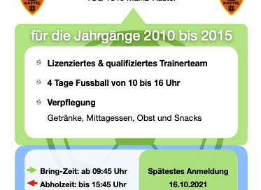 Jetzt anmelden zum Fussballcamp 2021!